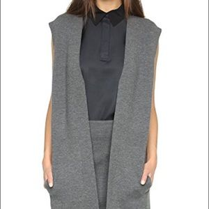 RAG & BONE Women's Alanna Long Wool Sweater vest